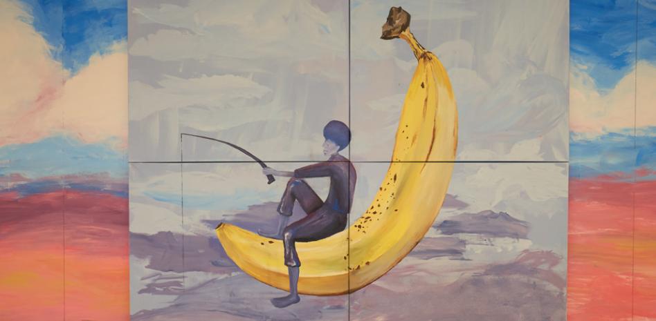 El 'Banana Lounge' es un pequeño oasis de esparcimiento mental para que los estudiantes olviden los agobios por un instante